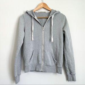 Abbot Main Grey Zip-Up Hoodie